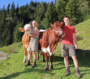 mountain farmers kleinarl with cows
